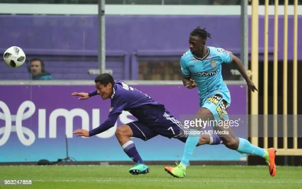 20180429 Brussels Belgium / Rsc Anderlecht v Sporting Charleroi / nAndy NAJAR Amara BABYnFootball Jupiler Pro League 2017 2018 PlayOff 1 Matchday 6 /...