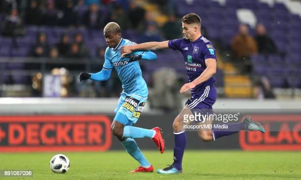 20171210 Brussels Belgium / Rsc Anderlecht v Sporting Charleroi / 'nChris BEDIA Leander DENDONCKER'nFootball Jupiler Pro League 2017 2018 Matchday 18...