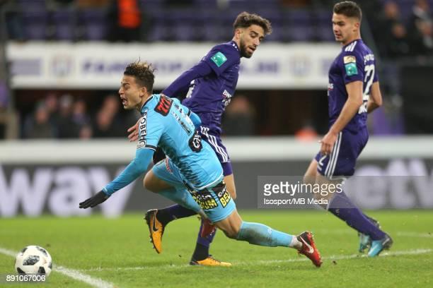 20171210 Brussels Belgium / Rsc Anderlecht v Sporting Charleroi / 'nCristian BENAVENTE Josue SA'nFootball Jupiler Pro League 2017 2018 Matchday 18 /...