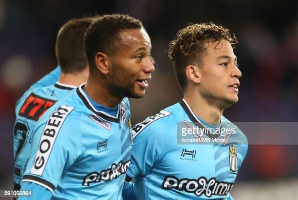 20171210 Brussels Belgium / Rsc Anderlecht v Sporting Charleroi / 'nCristian BENAVENTE Celebration'nFootball Jupiler Pro League 2017 2018 Matchday 18...