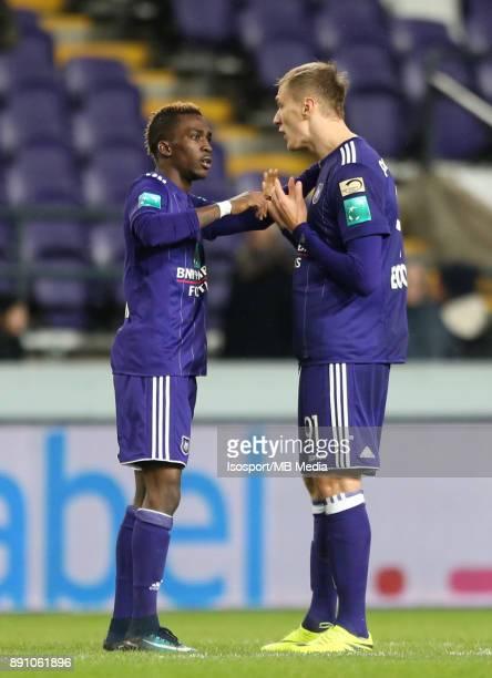 20171210 Brussels Belgium / Rsc Anderlecht v Sporting Charleroi / 'nHenry ONYEKURU Lukasz TEODORCZYK'nFootball Jupiler Pro League 2017 2018 Matchday...