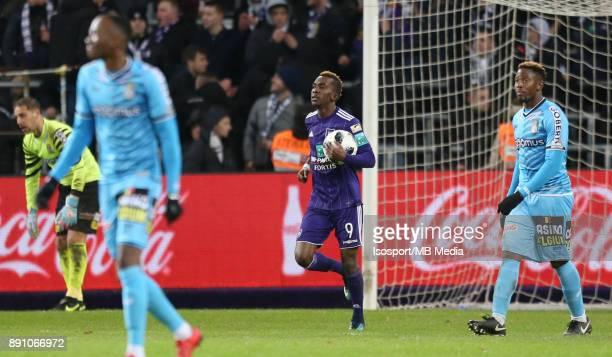 20171210 Brussels Belgium / Rsc Anderlecht v Sporting Charleroi / 'nHenry ONYEKURU Celebration'nFootball Jupiler Pro League 2017 2018 Matchday 18 /...