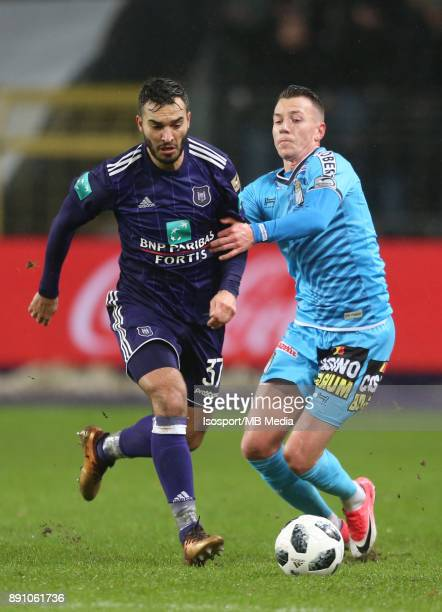20171210 Brussels Belgium / Rsc Anderlecht v Sporting Charleroi / 'nIvan OBRADOVIC Clement TAINMONT'nFootball Jupiler Pro League 2017 2018 Matchday...