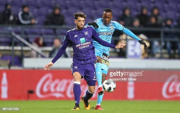 20171210 Brussels Belgium / Rsc Anderlecht v Sporting Charleroi / 'nJosue SA Dodi LUKEBAKIO'nFootball Jupiler Pro League 2017 2018 Matchday 18 /...