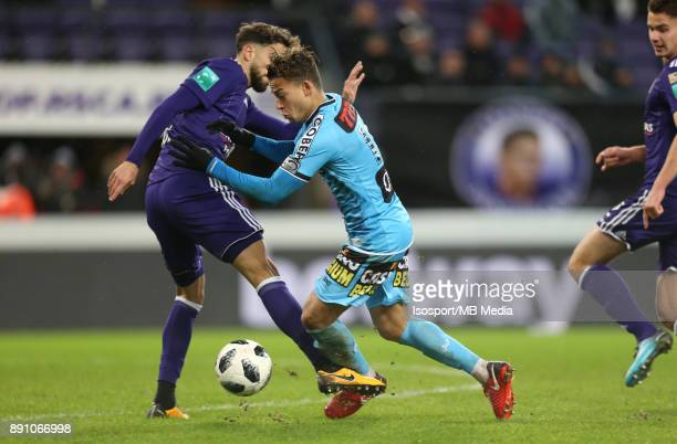20171210 Brussels Belgium / Rsc Anderlecht v Sporting Charleroi / 'nJosue SA Cristian BENAVENTE'nFootball Jupiler Pro League 2017 2018 Matchday 18 /...