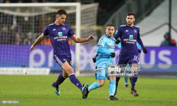20171210 Brussels Belgium / Rsc Anderlecht v Sporting Charleroi / 'nLeander DENDONCKER Javier MARTOS Massimo BRUNO'nFootball Jupiler Pro League 2017...