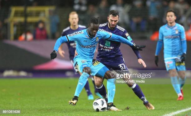 20171210 Brussels Belgium / Rsc Anderlecht v Sporting Charleroi / 'nMamadou FALL Ivan OBRADOVIC'nFootball Jupiler Pro League 2017 2018 Matchday 18 /...