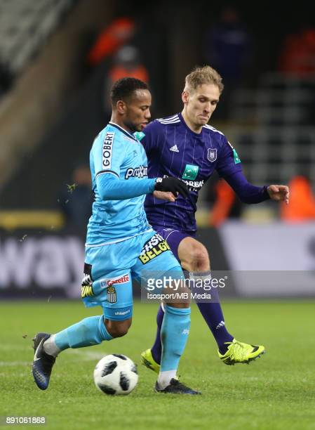 20171210 Brussels Belgium / Rsc Anderlecht v Sporting Charleroi / 'nMarco ILAIMAHARITRA Lukasz TEODORCZYK'nFootball Jupiler Pro League 2017 2018...
