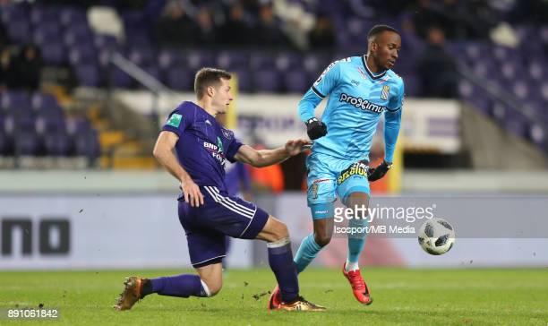 20171210 Brussels Belgium / Rsc Anderlecht v Sporting Charleroi / 'nUros SPAJIC Dodi LUKEBAKIO'nFootball Jupiler Pro League 2017 2018 Matchday 18 /...