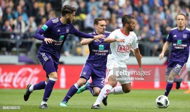 20180510 Brussels Belgium / Rsc Anderlecht v Standard de Liege / 'nJosue SA Mehdi CARCELA'nFootball Jupiler Pro League 2017 2018 PlayOff 1 Matchday 8...