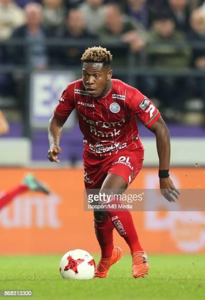 20171025 Brussels Belgium / Rsc Anderlecht v Zulte Waregem / 'nAaron LEYA ISEKA'nFootball Jupiler Pro League 2017 2018 Matchday 12 / 'nPicture by...
