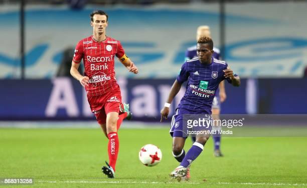 20171025 Brussels Belgium / Rsc Anderlecht v Zulte Waregem / 'nDavy DE FAUW Henry ONYEKURU'nFootball Jupiler Pro League 2017 2018 Matchday 12 /...