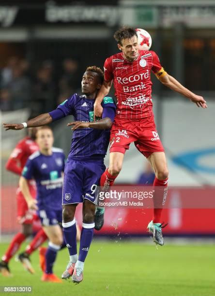 20171025 Brussels Belgium / Rsc Anderlecht v Zulte Waregem / 'nHenry ONYEKURU Davy DE FAUW'nFootball Jupiler Pro League 2017 2018 Matchday 12 /...