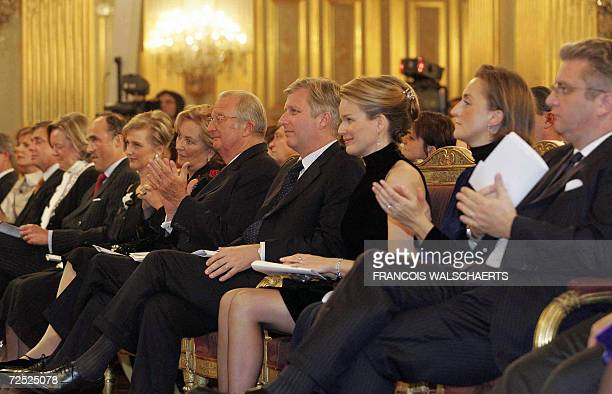 Senate Chairwoman AnneMarie Lizin Prince Lorenz and Princess Astrid Queen Paola and King Albert II Prince Philippe and Princess Mathilde Princess...