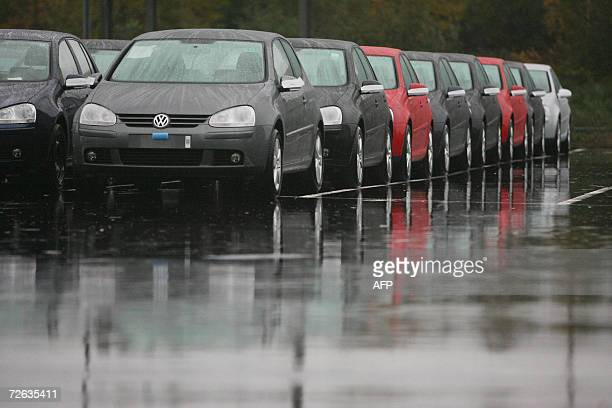 The giant parking with Volkswagen cars, golf models, ready to be delivered are blocked inside the VW Forest / Vorst by workers 23 November 2006 in...