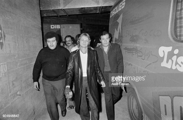 Brussels French singer Claude François bids farewell to the scene January 1974