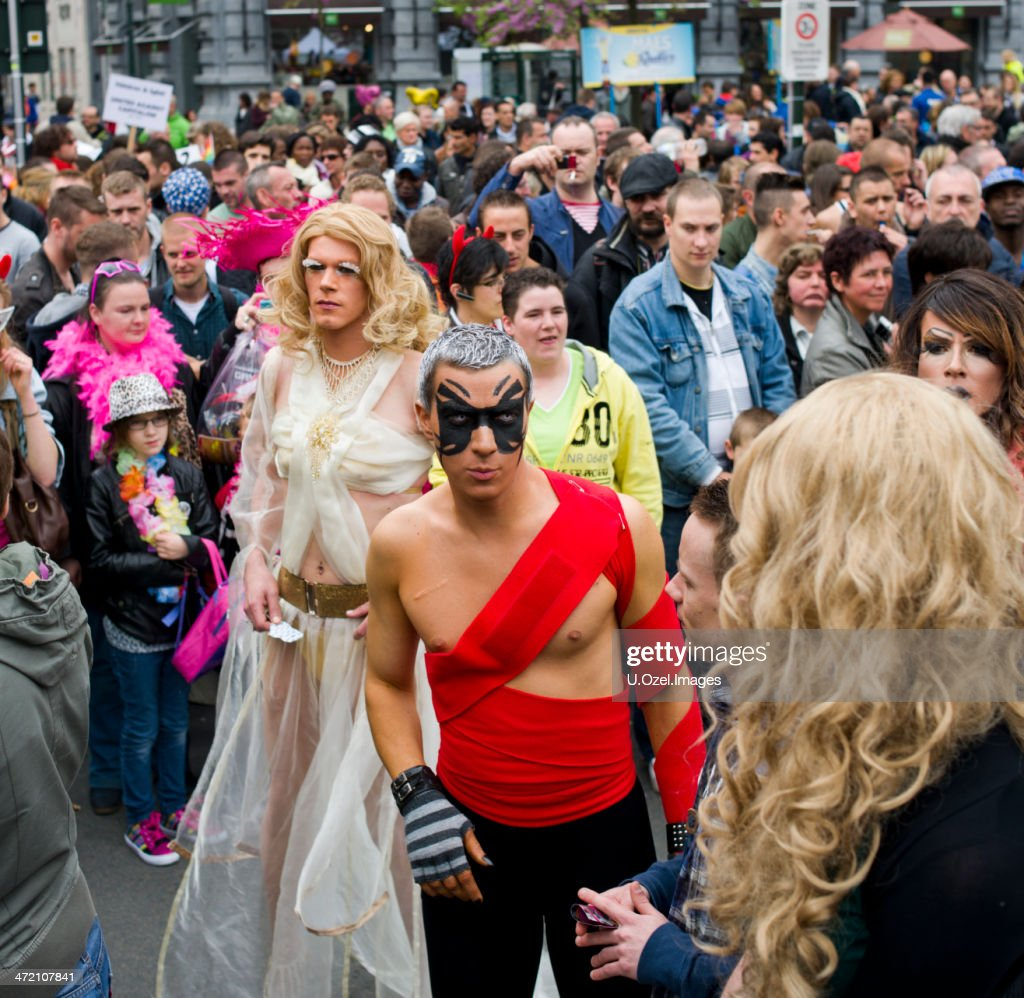 Brussels Gay Pride Festival, Belgium. : Stock Photo