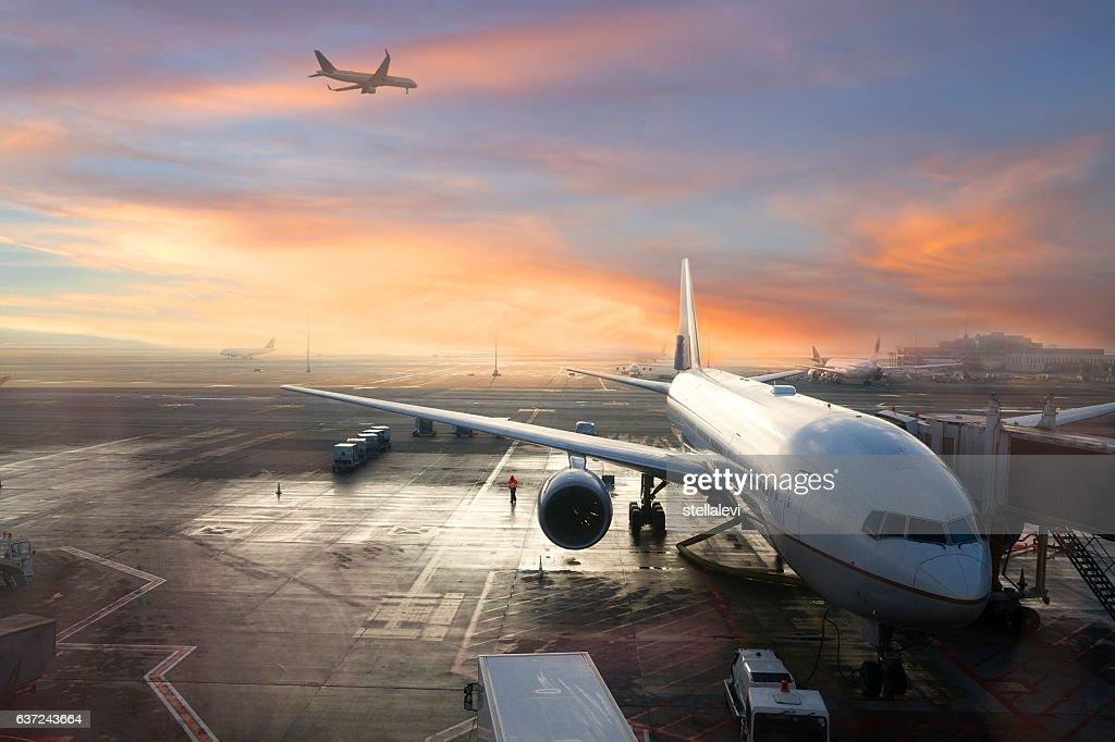 Brussels International Airport, Belgium : Stock Photo