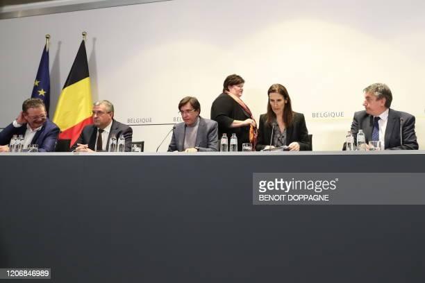 Brussels region MinisterPresident Rudi Vervoort Federation Wallonia Brussels Minister President PierreYves Jeholet Walloon Minister President Elio Di...