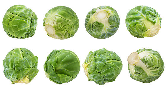 Brussels sprout isolated on white background with clipping path 1085208726