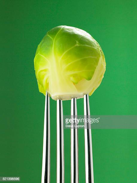 Brussels Sprout on a Fork
