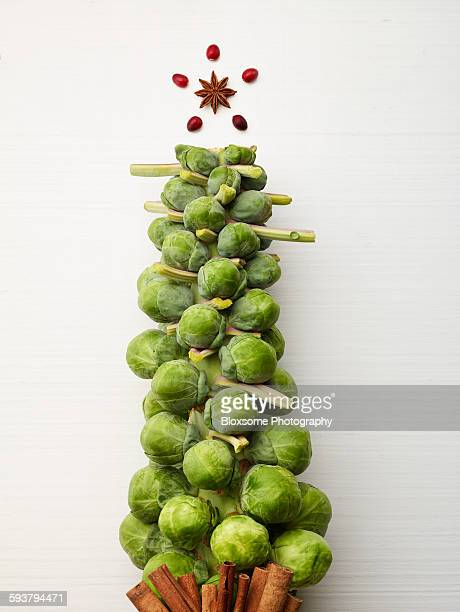 Brussels Sprout Tree and Star
