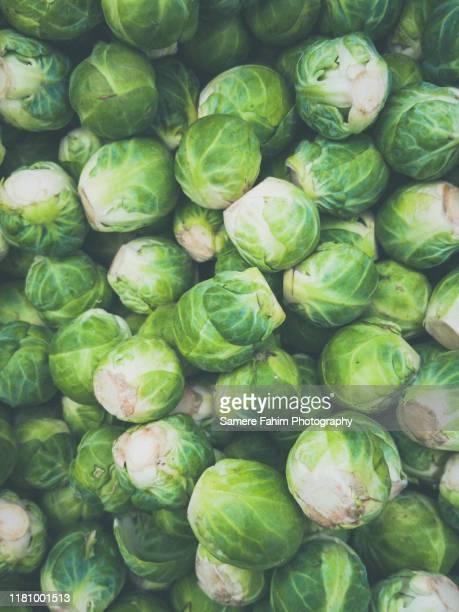 brussels sprouts - 芽キャベツ ストックフォトと画像