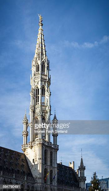 brussels town hall - town hall stock photos and pictures