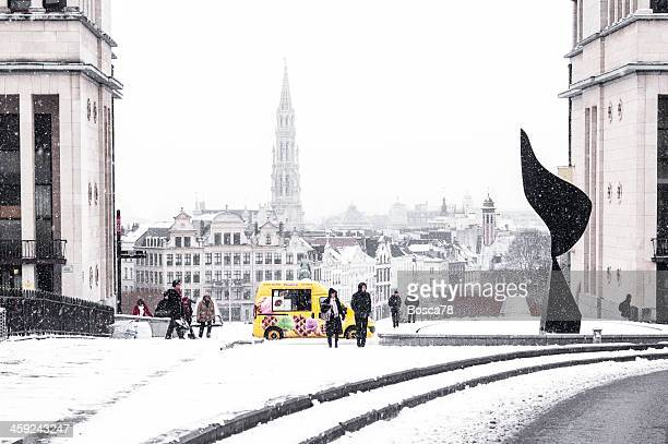 Brussels under the snow