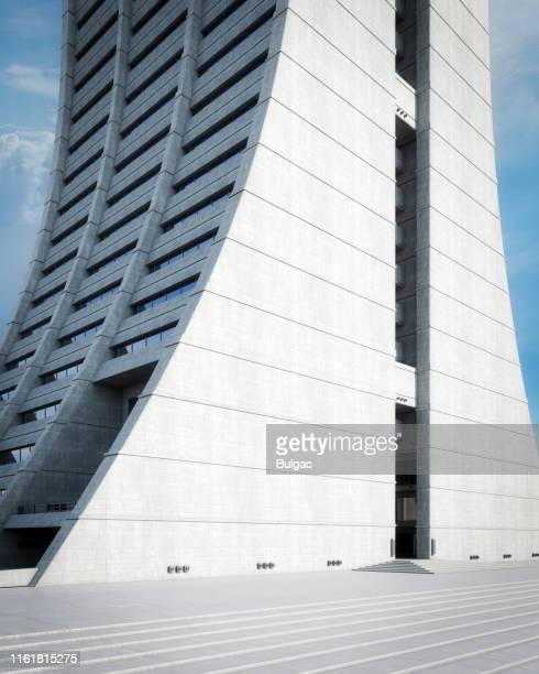 bâtiment brutaliste - ex urss photos et images de collection