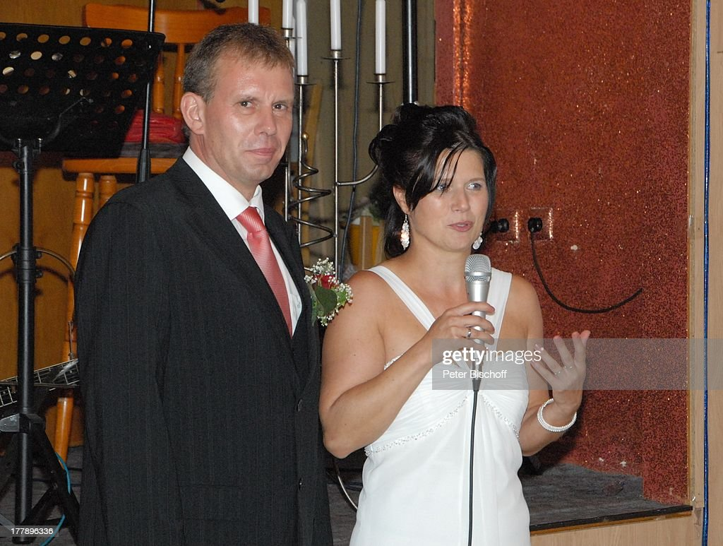 Brautigam Sven Hoep Braut Elke Hoep Hochzeitsfeier Hochzeit Sven
