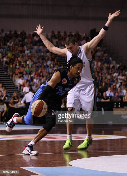 Bruton of the Breakers in action during the round 21 NBL match between the New Zealand Breakers and the Townsville Crocodiles at North Shore Events...