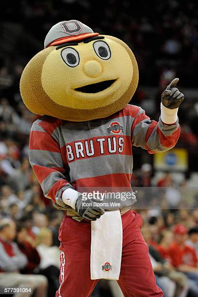 Brutus the Buckeye during the Ohio State Buckeyes 8168 win over the Jacksonville Dolphins at Value City Arena in Columbus Ohio