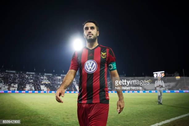 Brwa Nouri of Oestersunds FK after the UEFA Europa League Qualifying PlayOffs round first leg match between PAOK Saloniki and Oestersunds FK at...