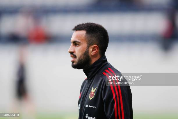 Brwa Nouri of Ostersunds FK ahead of the Allsvenskan match between Dalkurd FF and Ostersunds FK at Gavlevallen on April 8 2018 in Gavle Sweden