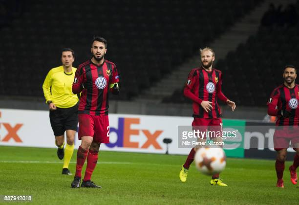 Brwa Nouri of Ostersunds FK dejected after missing a penalty shot during the UEFA Europa League group J match between Hertha BSC and Ostersunds FK at...