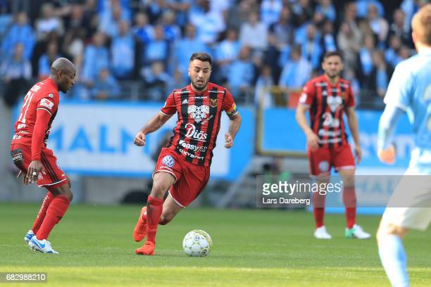 Brwa Nouri of Ostersunds FK during the Allsvenskan match between Malmo FF and Ostersunds FK at Swedbank Stadion on May 14 2017 in Malmo Sweden