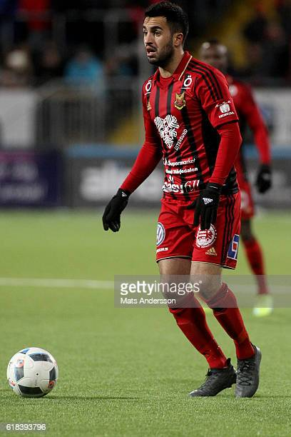 Brwa Nouri of Ostersunds FK during the Allsvenskan match between Ostersunds FK and Hammarby IF at Jamtkraft Arena on October 26 2016 in Ostersund...