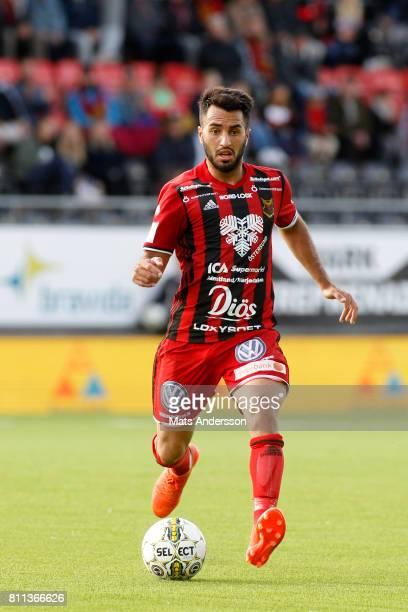 Brwa Nouri of Ostersunds FK during the Allsvenskan match between Ostersunds FK and Jonkopings Sodra IF at Jamtkraft Arena on July 9 2017 in Ostersund...