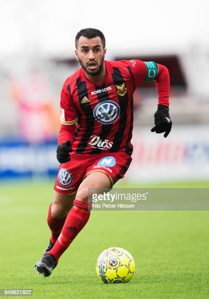 Brwa Nouri of Ostersunds FK during the Allsvenskan match between Ostersunds FK and Orebro SK at Jamtkraft Arena on April 21 2018 in Ostersund Sweden
