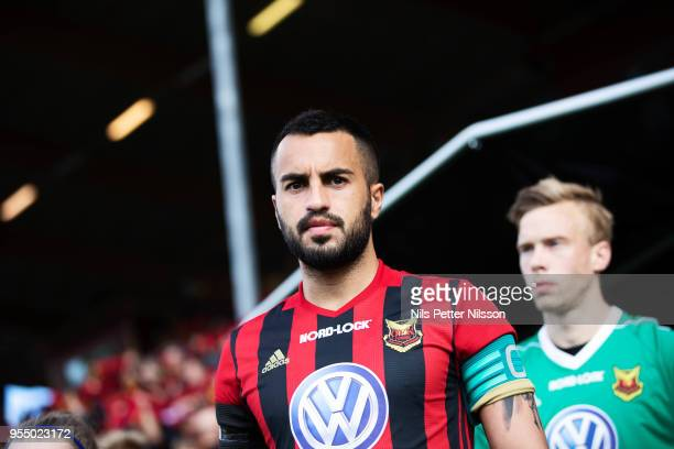 Brwa Nouri of Ostersunds FK during the Allsvenskan match between Ostersunds FK and IFK Norrkoping at Jamtkraft Arena on May 5 2018 in Ostersund Sweden
