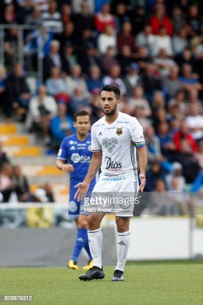 Brwa Nouri of Ostersunds FK during the Allsvenskan match between GIF Sundsvall and Ostersunds FK at Berners Arena on August 6 2017 in Sundsvall Sweden