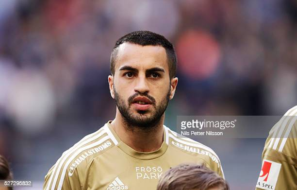Brwa Nouri of Ostersunds FK during the Allsvenskan match between Djurgardens IF and Ostersunds FK at Tele2 Arena on May 2 2016 in Stockholm Sweden