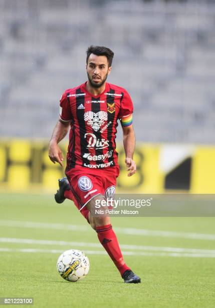 Brwa Nouri of Ostersunds FK during the Allsvenskan match between Djurgardens IF and Ostersunds FK at Tele2 Arena on July 23 2017 in Stockholm Sweden