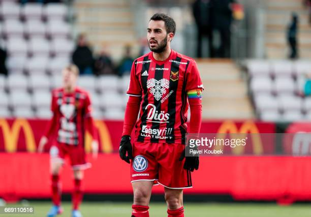 Brwa Nouri of Ostersunds FK during the allsvenskan match between Orebro SK and Ostersunds FK at Behrn Arena on April 16 2017 in Orebro Sweden