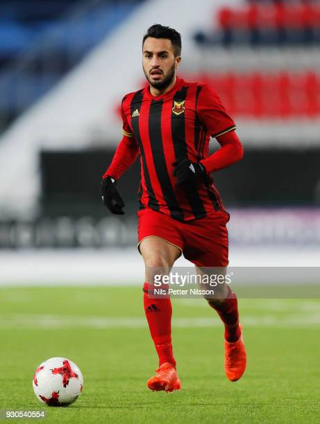 Brwa Nouri of Ostersunds FK during the Swedish Cup Quarterfinal between Ostersunds FK and GAIS at Jamtkraft Arena on March 11 2018 in Ostersund Sweden