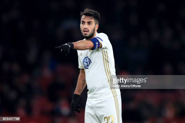 Brwa Nouri of Ostersunds FK during the UEFA Europa League Round of 32 match between Arsenal and Ostersunds FK at the Emirates Stadium on February 22...