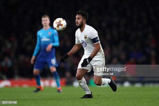 Brwa Nouri of Ostersunds FK during UEFA Europa League Round of 32 match between Arsenal and Ostersunds FK at the Emirates Stadium on February 22 2018...
