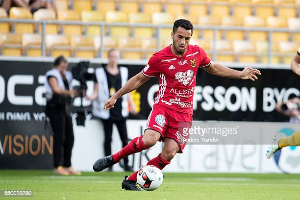 Brwa Nouri of Ostersunds FK in action during the Allsvenskan match between IF Elfsborg and Ostersunds FK at Boras Arena on July 25 2016 in Boras...