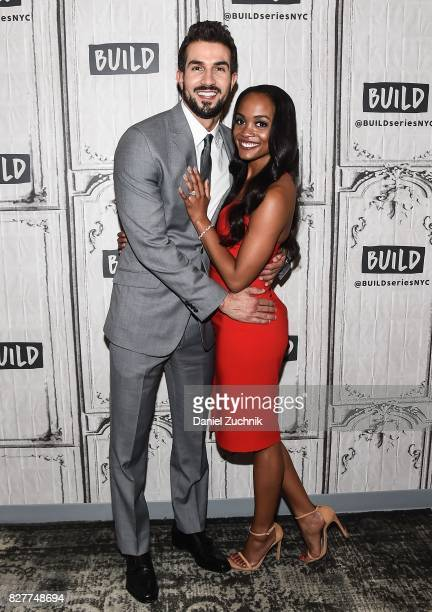 Bryan Abasolo and Rachel Lindsay attend the Build Series to discuss 'The Bachelorette' at Build Studio on August 8 2017 in New York City